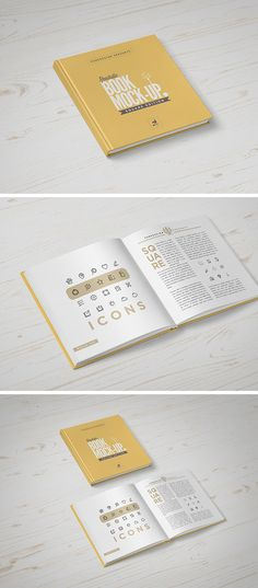 Create a distinctive presentation for your projects with this photorealistic square book mock-up created by the team...