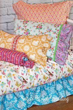 TWIN SIZE 3pc SET Happy Land Girls Bedding  by SugarCreekBedding, $455.00
