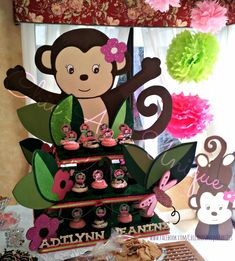 Chic and Unique Parties: Girl Monkey Baby Shower