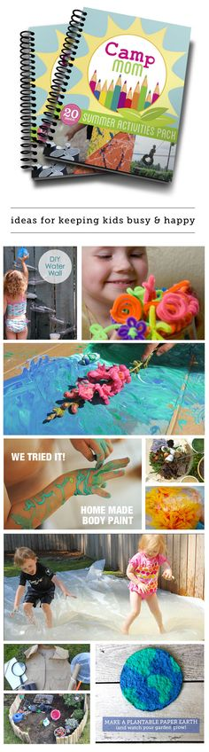 Camp Mom: an 84 page PDF download put together by the best playtime bloggers around - full of activities, reading lists, crafts and adventure ideas for making the most of your spring and summer break!