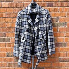 Gray Plaid Pea Coat. Gray Plaid Pea Coat. Jackets & Coats Pea Coats