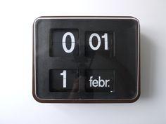 Bodet BT630 flip wall clock.
