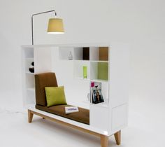 coolest idea for a mini reading nook ever - LOVE this!!  via freshome.com  Wish they told you who made that furniture, but they don't...could be DIY'd I'm sure!