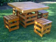 Patio Set Made From Pallets | Hand Made Pallet Furniture set. For... Pretoria North