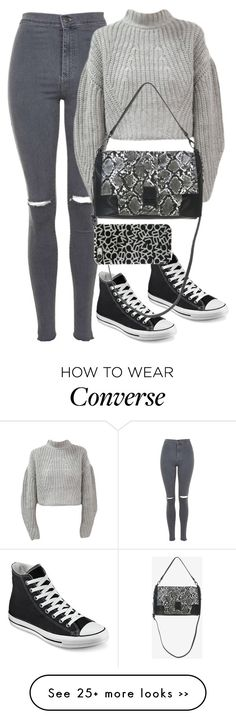 """Untitled #8202"" by katgorostiza on Polyvore featuring Topshop, Converse, French Connection and Marc by Marc Jacobs"