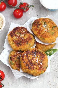 Galettes indiennes aux quinoa et patates douces