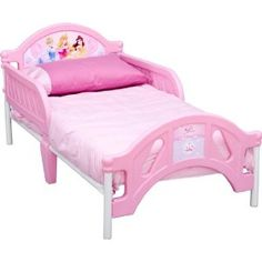 Amazon.com: Disney Princess Pretty Pink Toddler Bed: Toys & Games