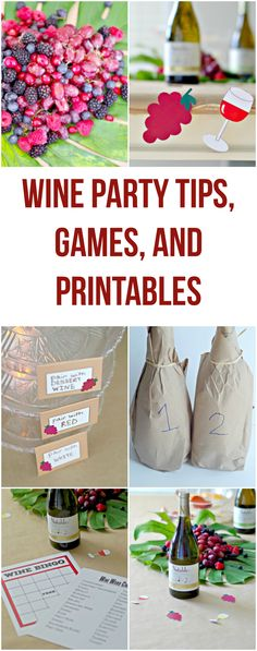 Wine Party Tips, Gam