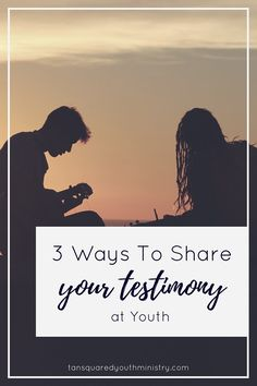 Sharing your testimony is part of building your faith and the faith of your teens, so you need to be sharing it a LOT. Here's 3 ways to do that well. Tansquared Youth Ministry