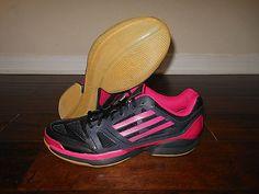 ADIDAS ADIZERO CRAZY VOLLEY PRO G97604 Shoes Size 11.5 US 45 EUR Black/Magenta