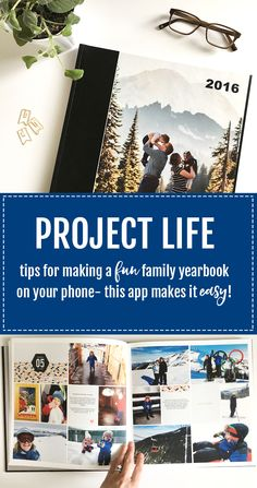 Tips for making a fun family yearbook on your phone with the Project Life App. It is SO SIMPLE!