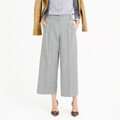 How to Wear Wide Cropped Pants