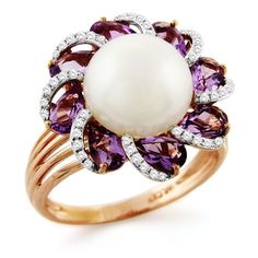 William Lam pearl flower ring