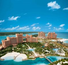 Paradise Island - our window was right of the archway on the Royal Towers...