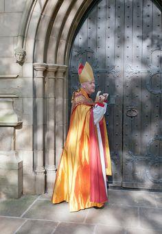 Bishop Nick knocks on the West Door