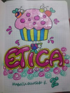 Etica Drawing School, Drawing For Kids, Cute Crafts, Diy And Crafts, Crafts For Kids, Notebook Art, Grammar Book, Cute Notes, School Notebooks