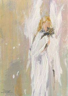 Angel - acrylic on canvas www.susanpepedesigns.com