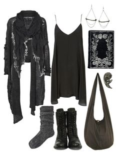 """""""Postapocalyptic Summer Heat"""" by n-nyx ❤ liked on Polyvore featuring H by Hudson, Helmut Lang, River Island, Chris Habana, AllSaints, Emilie Morris, apocalypse, dystopian, postapocalyptic and strega"""