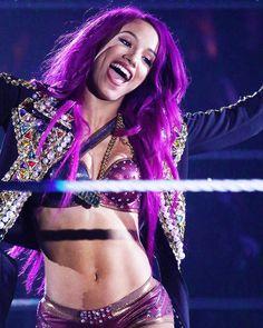 "twinkle-toes95: """"wwe: ""May the best woman win…"" @sashabankswwe @itsmebayley #WWE #RAW "" """