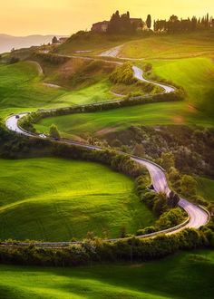 Tuscany road by Pawel Uchorczak...
