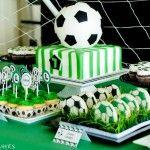 decoracao mesa festa futebol