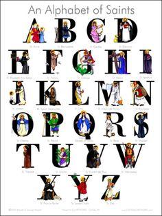 an-alphabet-of-catholic-saints-poster