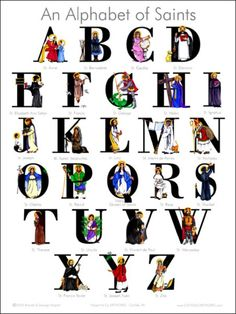 an-alphabet-of-catholic-saints-poster-601x800.jpg 601×800 pixels