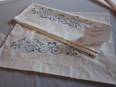 Hand-Embroidered Pillow Cases