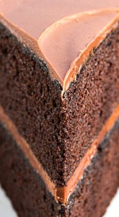 Chocolate Mayonnaise Cake - A retro chocolate layer cake that has stood the test of time! ❊