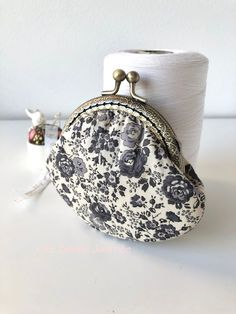 Lovely deer and floral print Fergus Liberty of Japan Handstitched crossbody Frame purseChain PurseGift for her