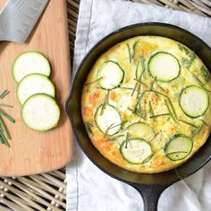 Zucchini, Onion and Feta Frittata Recipe by freshandfit on #kitchenbowl