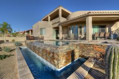 Jaw dropping Negative edge pool,& spa found in a luxury home for sale in Fountain Hills, AZ and get this only priced at $769,000