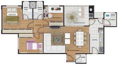 Resultado de imagem para plantas apartamento 120m