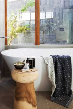 These are the 7 bathroom trends we're seeing everywhere   Home Beautiful Magazine Australia Bathroom Trends, Bathroom Ideas, Bathroom Styling, Clawfoot Bathtub, Interior, House, Indoor, Home, Haus