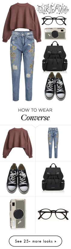 """I Dont Want your Heart"" by xx-secret-xx on Polyvore featuring Burberry, Converse and Kate Spade"