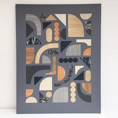 """If in doubt, cut and glue things. Makes you feel soooooo much better. Adding to my """"All shapes and sizes"""" series of collages. I've made lots on paper, but this one is bigger and on board. #allshapesandsizes #collage #paper #eloiserenouf"""