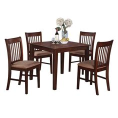Serve best freinds and family in this generously dimensions of square dining tables and exquisite dinette chair. Everybody can comfortably sit all around this small table set which features measurements of 36in square x 30in high.