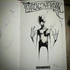 Atazagorafobia, medo de ser esquecido ou ignorado - Shawn Cross é um artista conhecido por seus desenhos assustadores e angustiantes - Artista iustra vários tipos de fobias de uma forma bizarra e assustadora