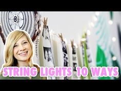 10 Ways to Decorate with String Lights - HGTV Handmade - YouTube
