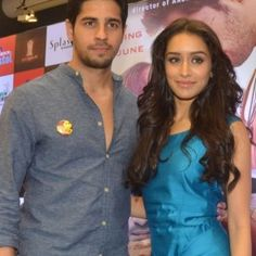 "f4190353c Shraddha Kapoor along with co-star Siddharth Malhotra promotes their  upcoming movie ""Ek Villain"
