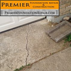 Garage or Driveway cracks visible in the concrete are indication of a possible issue with the ground and foundation. Have us come out and evaluate it. http://www.premierfoundationrepair.com/contact-us/