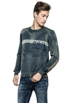 Men's cotton sweater - Replay