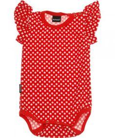 Metsola red dots frilla short sleeved body £13.99