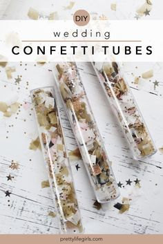 """Wedding Exit Ideas: DIY Wedding Confetti Tubes - The Pretty Life Girls 