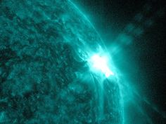 Sunspots and Solar Flares  NASA's Solar Dynamics Observatory (SDO) captured this image of an M7.9 class flare on March 13, 2012 at 1:29 p.m. EDT. Image Credit: NASA/SDO
