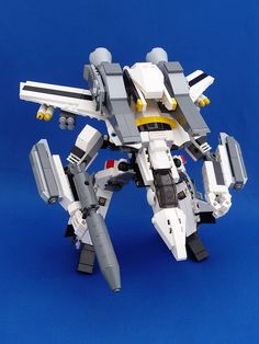 Lego VF-1S Super Valkyrie Skull Leader from Robotech in Gerwalk Mode by daikoncat