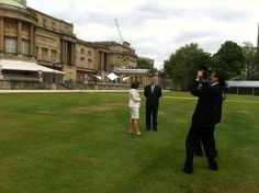 The garden at Buckingham Palace - prepping for 10,000 visitors Monday. Chief Anchor and Senior Editor for CTV National News Lisa LaFlamme speaks with Prince Andrew. (Courtesy @LisaLaFlammeCTV)