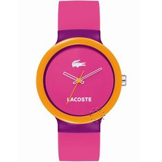 LACOSTE GOA Purple and Pink Rubber Strap Μοντέλο: 2020002 Η τιμή μας: 59€ http://www.oroloi.gr/product_info.php?products_id=23248