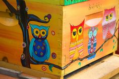 Wise Owls Beehive Box for Honey Bees Custom by IzzabellaBeez