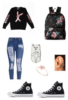 """""""Chill outfit #28"""" by arjeter ❤ liked on Polyvore featuring Converse, Vans and RIPNDIP"""